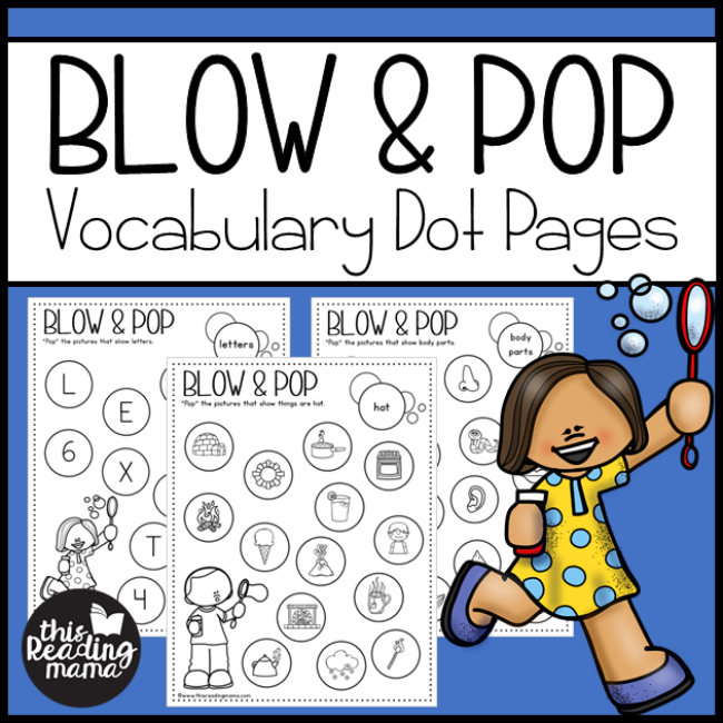 Vocabulary Dot Pages - Blow & Pop