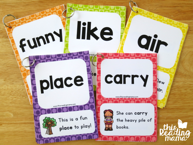 all five levels of sight word sentence cards - This Reading Mama