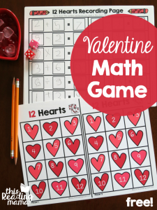 Valentine Math Facts Game