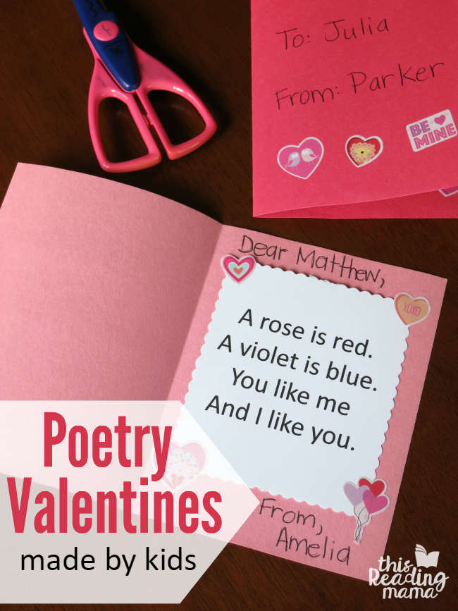 Kid-Made Poetry Valentines - free printable - This Reading Mama