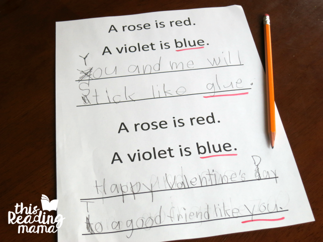editing the poetry valentines