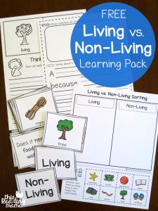 Living vs Non-Living Learning Pack