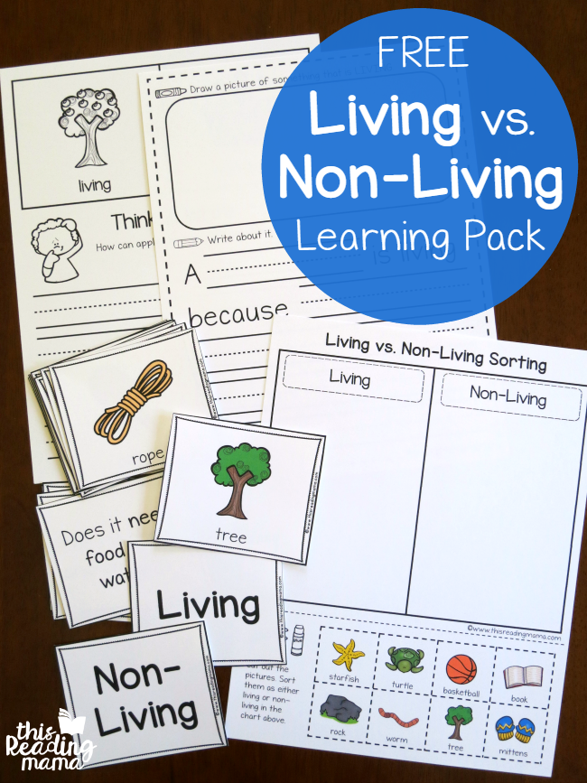 FREE Living vs Non-Living Learning Pack - This Reading Mama