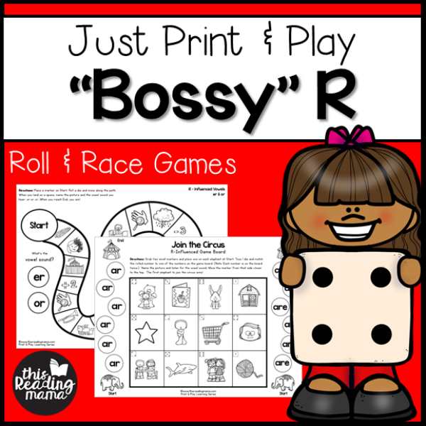 Print and Play Bossy R Games - This Reading Mama