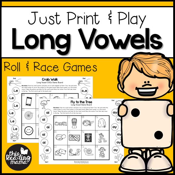 Long Vowel Games For Cvce Pattern