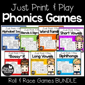 Print and Play Phonics Games - This Reading Mama