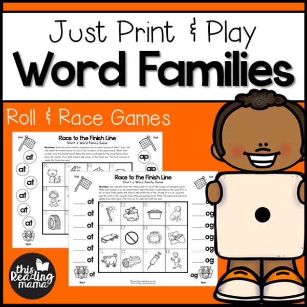 print and play word family games this reading mama