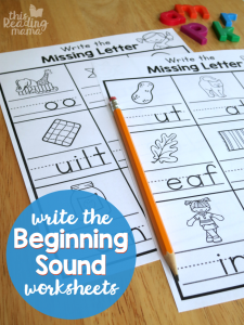 Write the Beginning Sound Worksheets