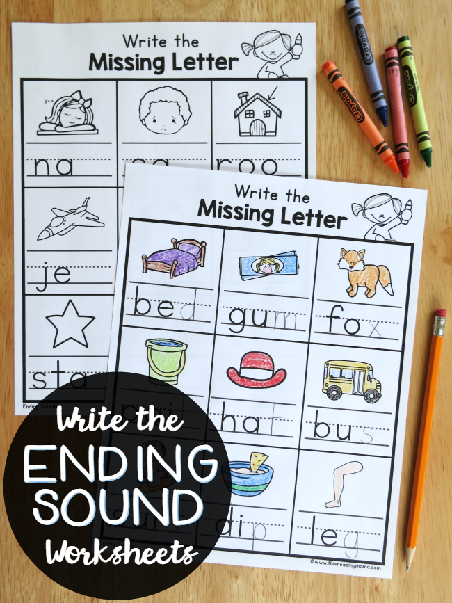 Write The Ending Sounds Worksheets This Reading Mama