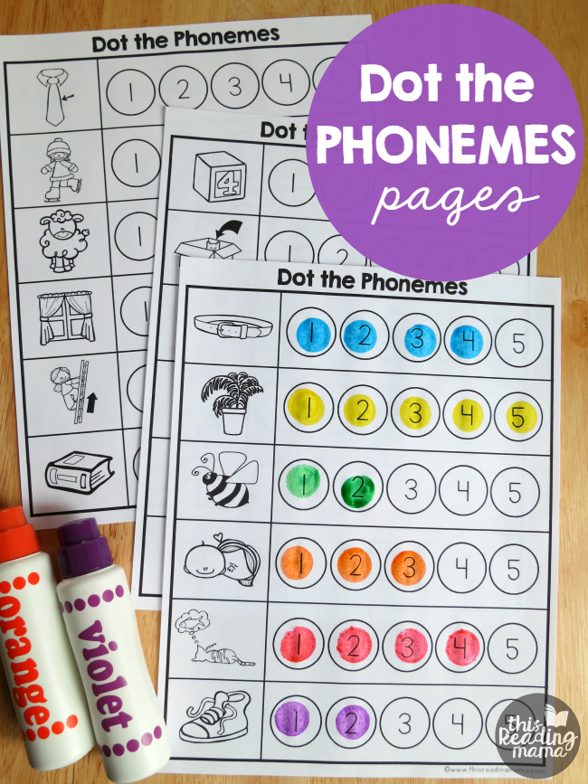 Phonemes Worksheets – Dot the Phonemes