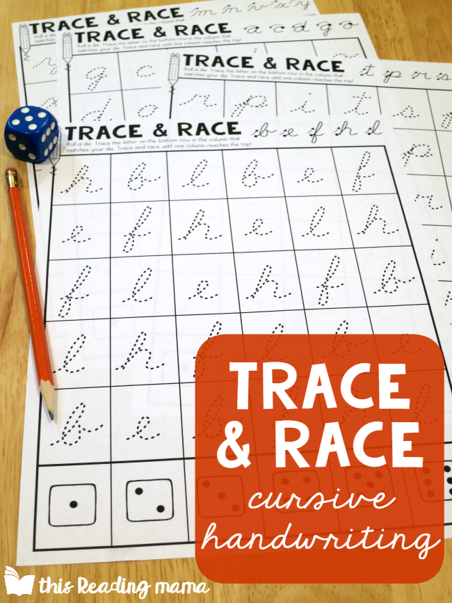 Cursive Handwriting Pages for Lowercase