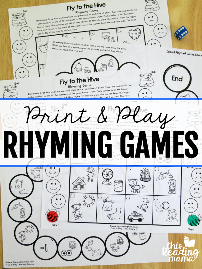 Print and Play Rhyming Games