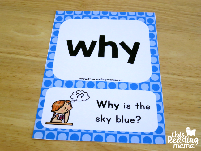 sight word sentence card for why