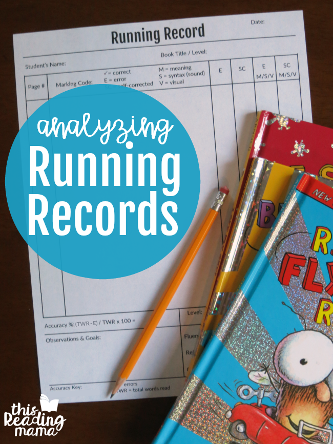 Analyzing Running Records With Msv This Reading Mama