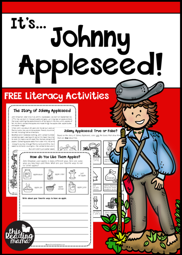 Johnny Appleseed Literacy Activities Free This Reading Mama