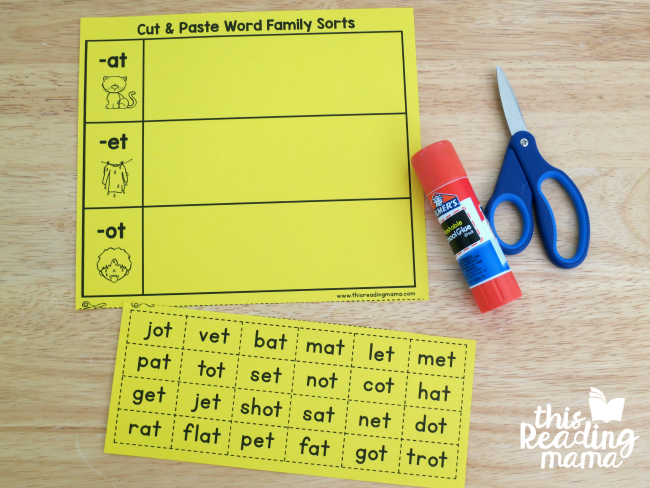 photo about Printable Word Sorts called Printable Types for Alphabetic Spellers