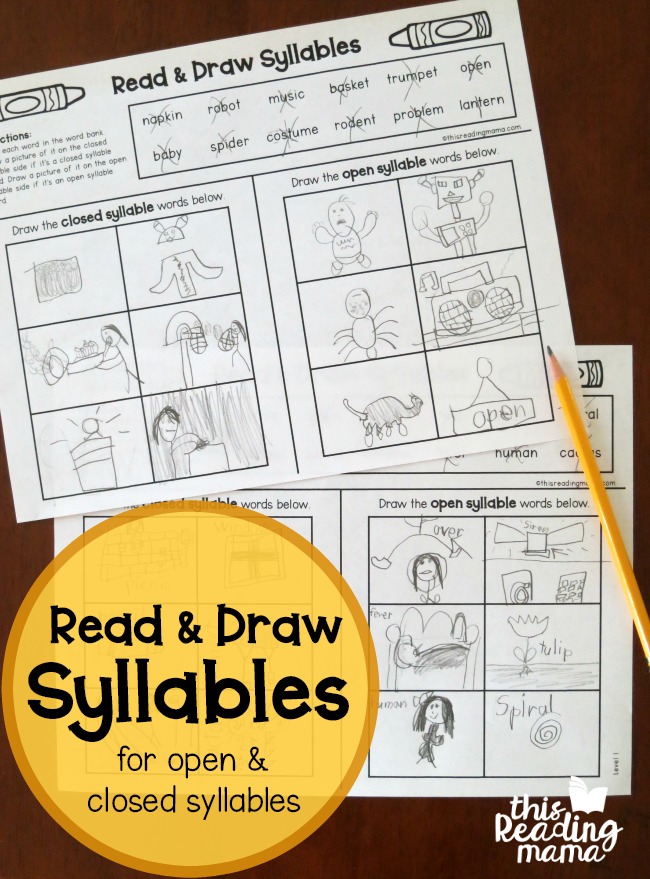 Open And Closed Syllable Pages Read Draw This Reading Mama