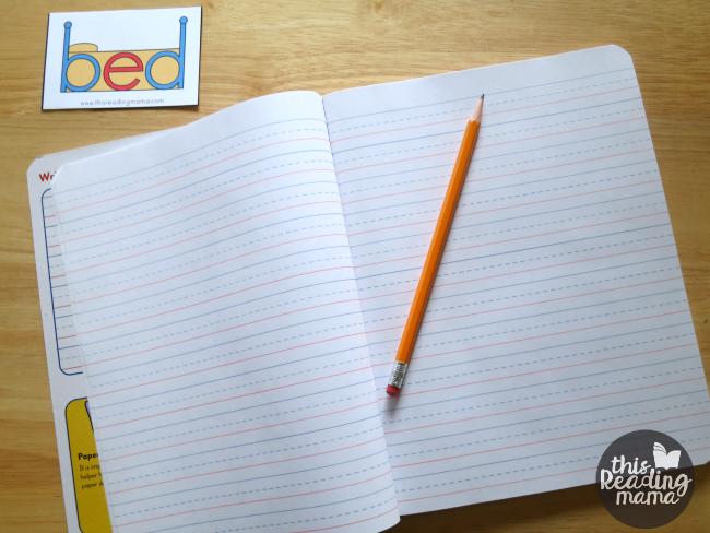 tape bed reminder for b and d letter reversals at learner's desk