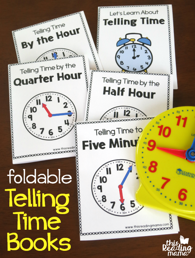 Printable Telling Time Books - Just Fold and Read - This Reading Mama