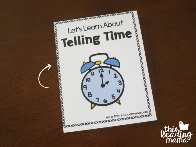 fold the printable telling time books just two times and they're ready to read