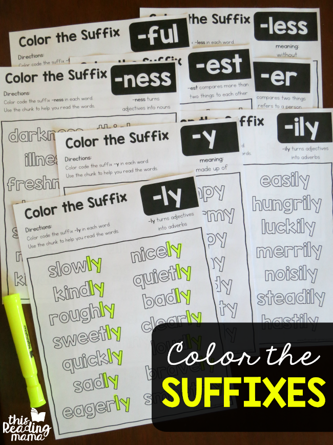 Color The Suffixes Worksheets This Reading Mama