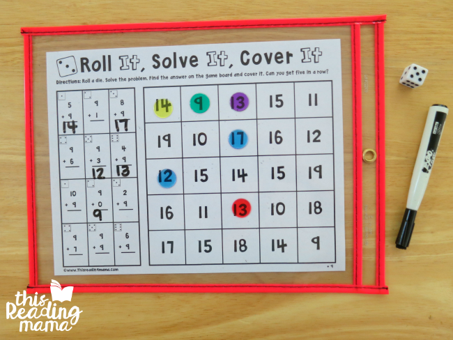 cover the no prep math games with counters