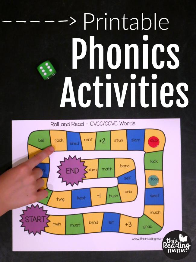 Printable Phonics Activities - This Reading Mama