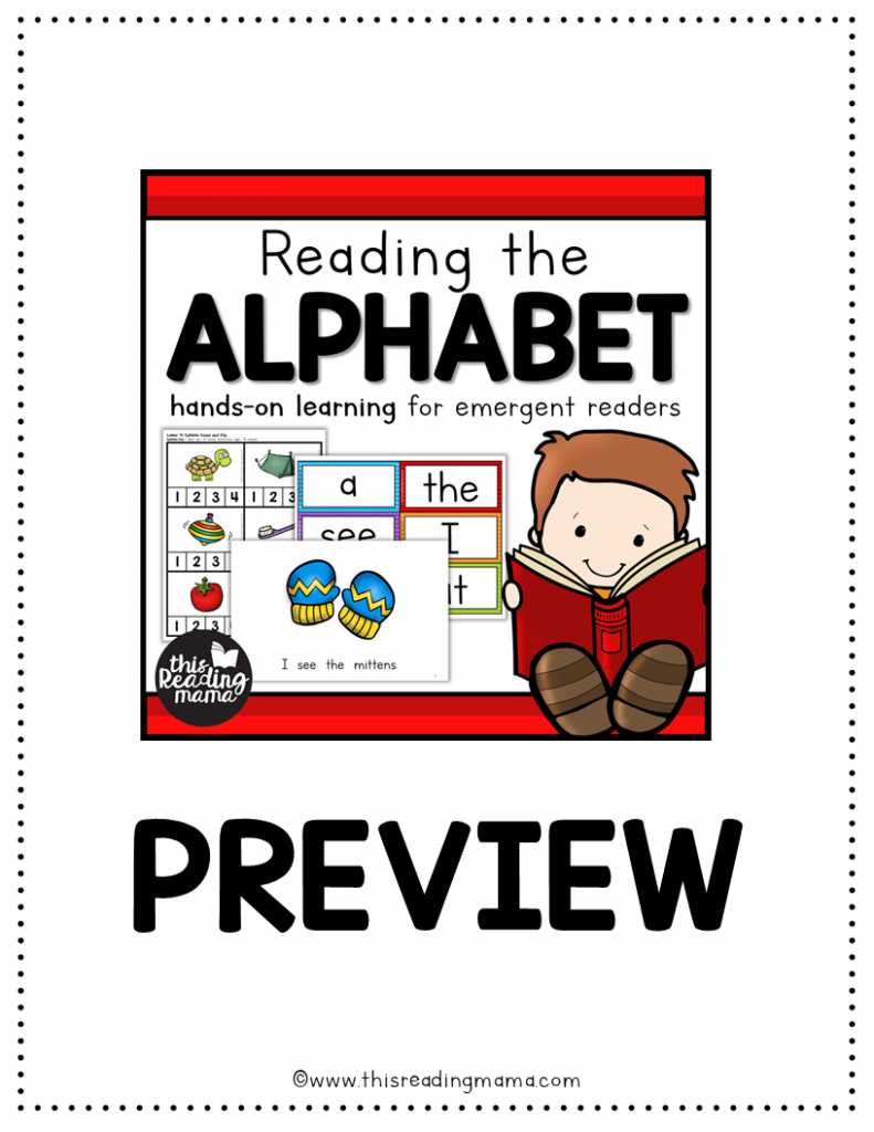 Reading the Alphabet 2018 Preview File - This Reading Mama